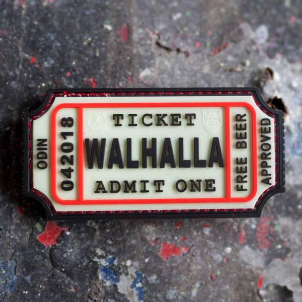 Bilde av Patch - Large Walhalla Ticket Rubber -