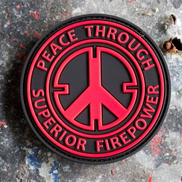 Bilde av Patch - Peace - Svart/Rød