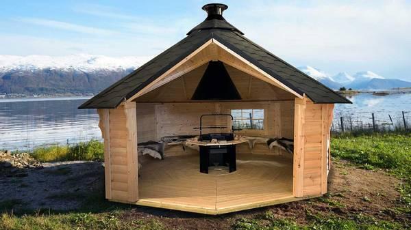 Bilde av Vindskydd 16.5 m2 Premium med grill och bänkar