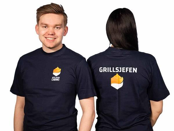 Bilde av Grillsjefen - t-skjorte i marineblå