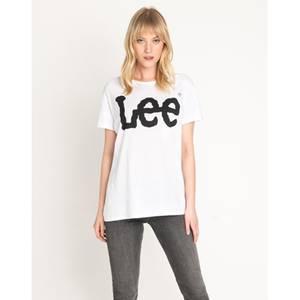 Bilde av Lee Logo T-skjorte hvit