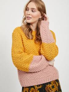 Bilde av Rosemunda genser gul/rosa
