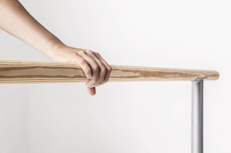Height-adjustable initiation ballet barre Juliette
