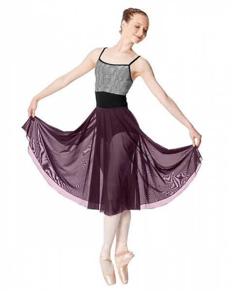 Mesh Long Sheer Skirt Emilia
