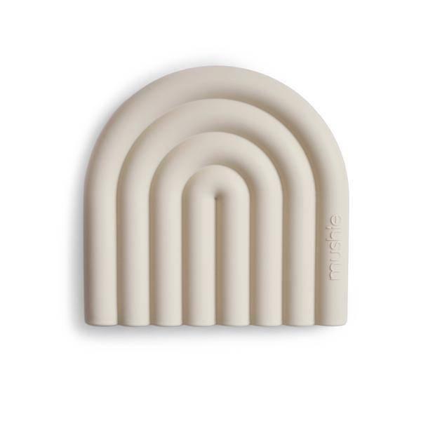 Bilde av Biteleke Baby Regnbue - Silikon - Mushie - Sand