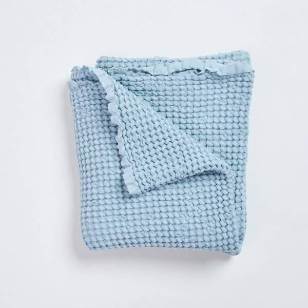 Bilde av Babyteppe - 100x100 - Lin - BimBla - Blå