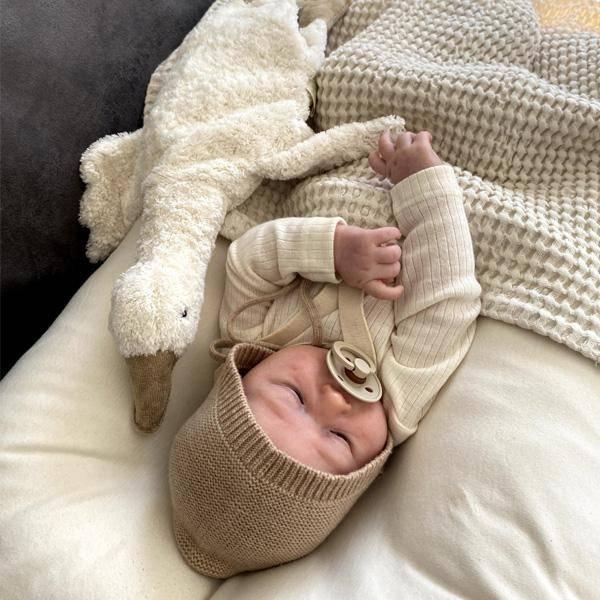 Bilde av Babyteppe - 100x100 - Lin - BimBla - Ecru