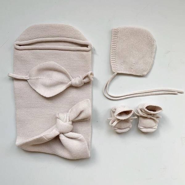 Bilde av Babytøfler - Merinoull - Hvid - Off-white