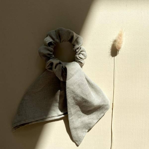 Bilde av Scrunchie i Naturlig Lin - One Size - Looks by Luks - Beige