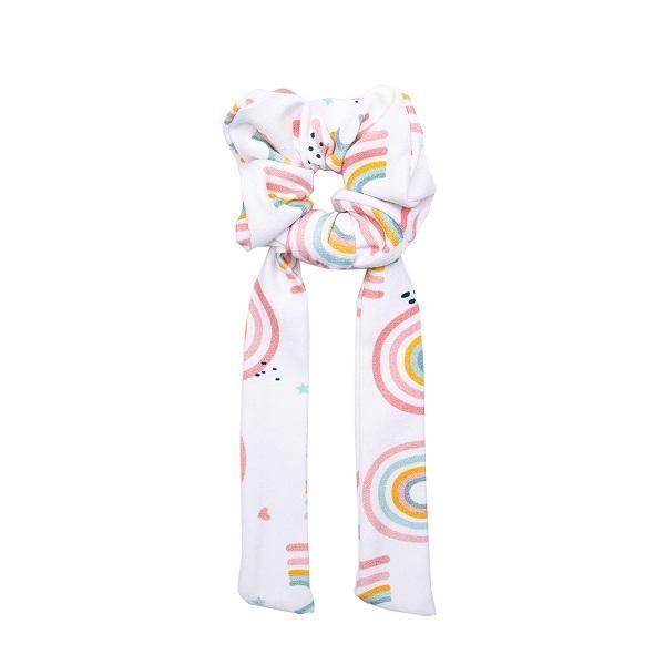 Bilde av Scrunchie med sløyfe - One Size - UL&KA - Rainbow