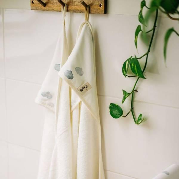 Bilde av Babyhåndkle - 100% Bambus - Layette - Clouds