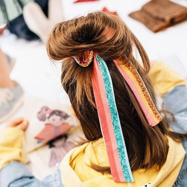 Bilde av Scrunchie med sløyfe - One Size - UL&KA - Disco