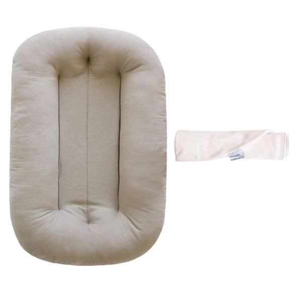 Bilde av Babypakke - Babynest&Trekk - Snuggle Me Organic - Beige