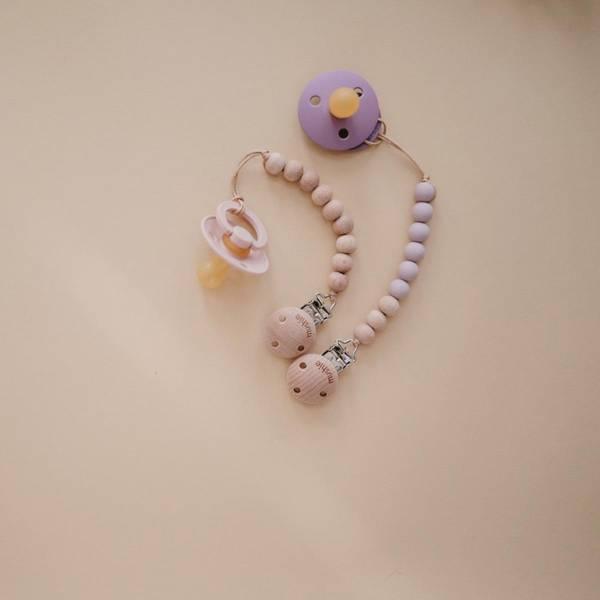 Bilde av Bibs Smokk Naturgummi - Dusty Lilac