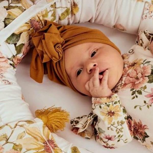 Bilde av Baby Turban med søt knyting - Looks by Luks - Caramel