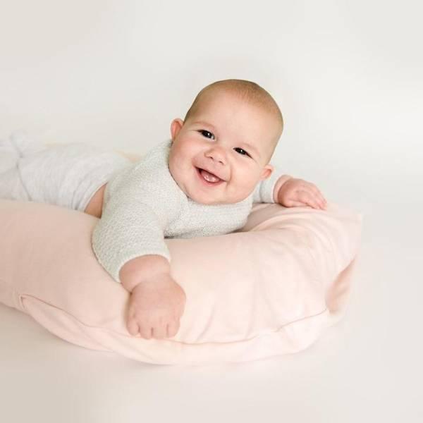 Bilde av Trekk til Snuggle Me Organic Babynest - Powder Pink