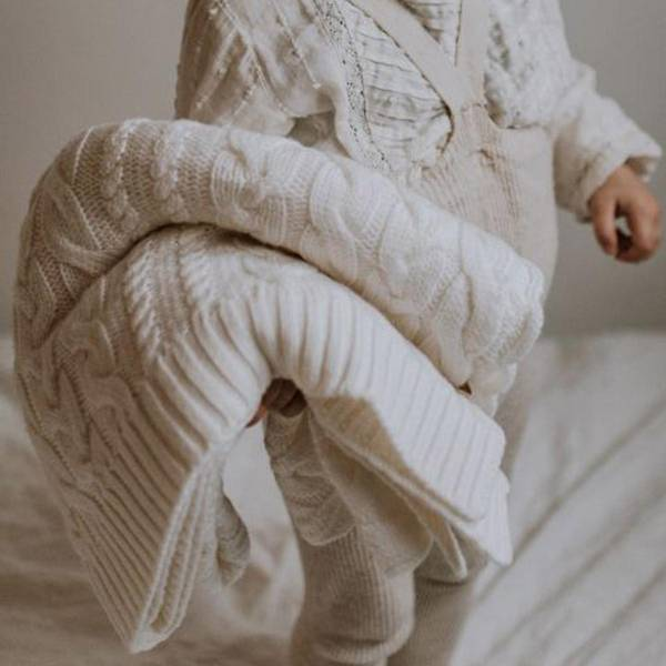 Bilde av Babyteppe - 80x100 - Merinoull - MyMemi - Ecru