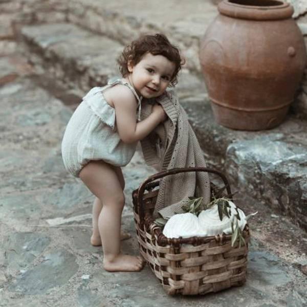 Bilde av Babyteppe - 80x100 - Økologisk Bomull - MyMemi - Beige
