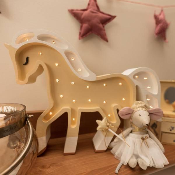 Bilde av Nattlampe Lumimi - Furu & LED - Hest