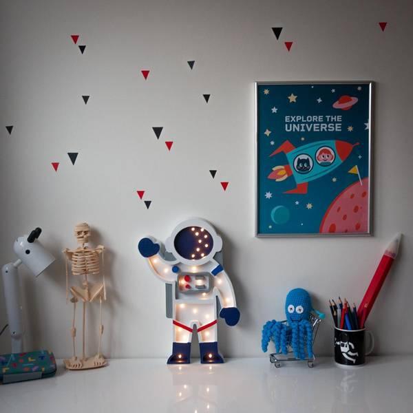 Bilde av Nattlampe Lumimi - Furu & LED - Astronaut