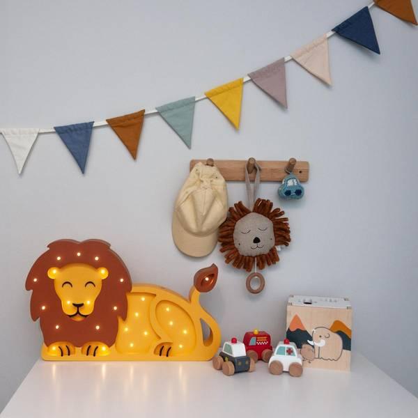 Bilde av Nattlampe Lumimi - Furu & LED - Løve