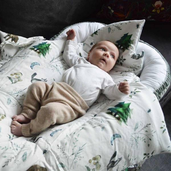 Bilde av Babynest Fløyel - Babyly - Grønn