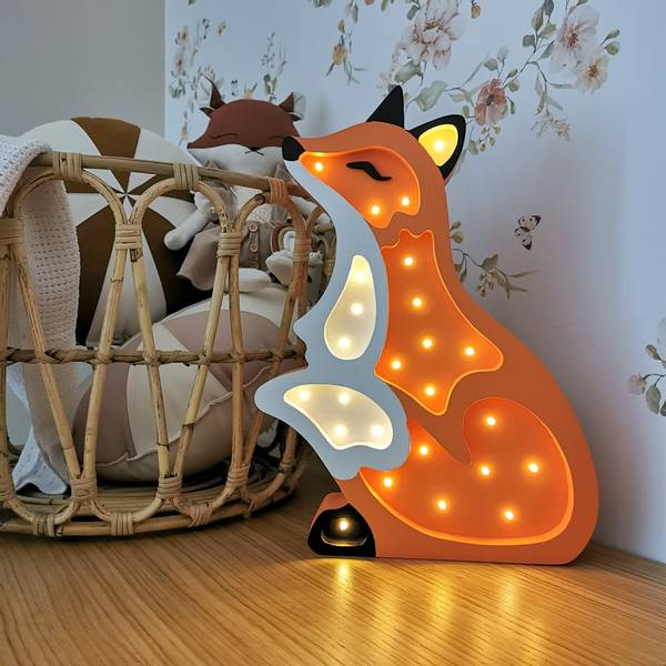 Bilde av Nattlampe Lumimi - Furu & LED - Rev