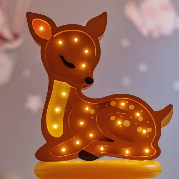 Bilde av Nattlampe Lumimi - Furu & LED - Rådyr