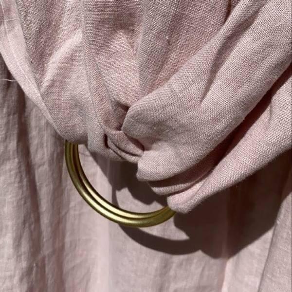 Bilde av Bæresjal i Naturlig Lin - Baba Wrap - Dus Rosa