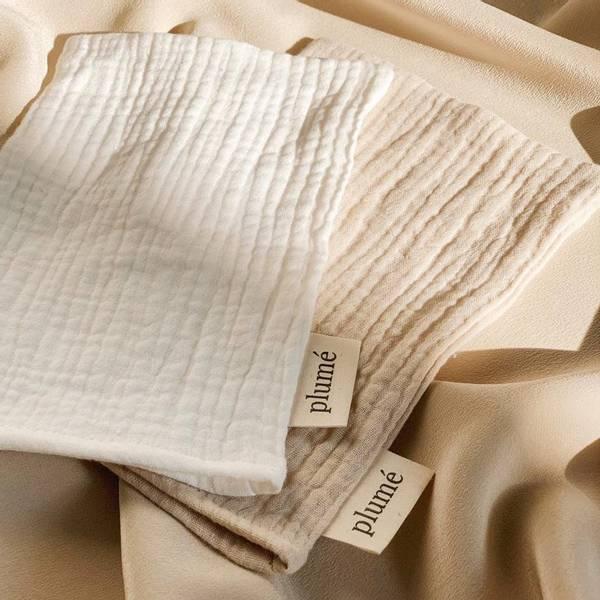 Bilde av Vaskeklut 2-pk Musselin - Plume - Cream&Natural