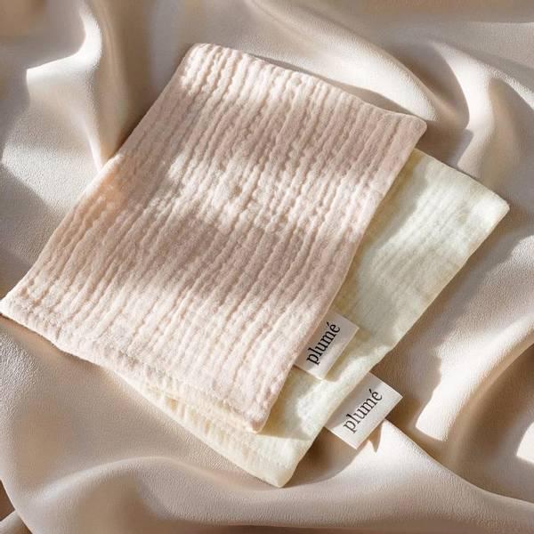 Bilde av Vaskeklut 2-pk Musselin - Plume - Nude&Vanilla