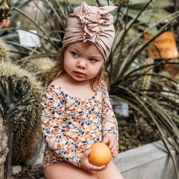 Bilde av Baby Turban med søt knyting - Looks by Luks - Lysebrun