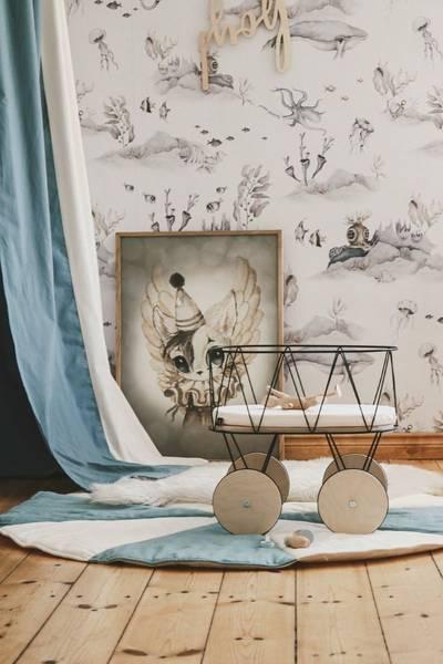 Bilde av Sengehimmel - Lin - MoiMili - Blå Circus