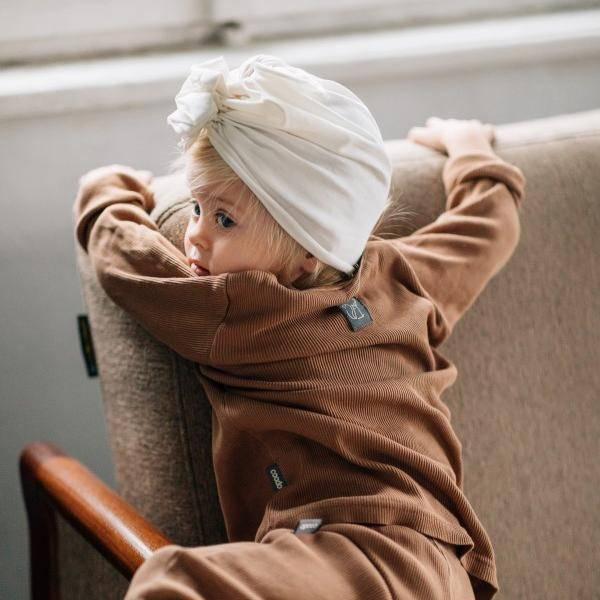 Bilde av Baby Turban med søt knyting - Looks by Luks - Hvit