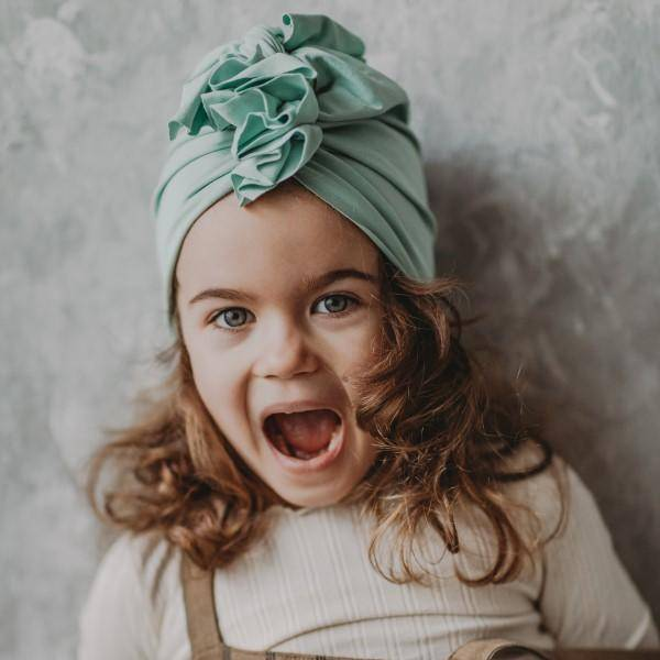 Bilde av Baby Turban med søt knyting - Looks by Luks - Mynte