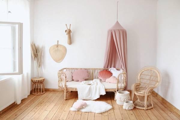 Bilde av Sengehimmel - Musselin - MoiMili - Baby Pink