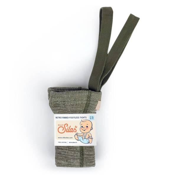 Bilde av Babytights Rib med Sele - Silly Silas - Creamy Olive