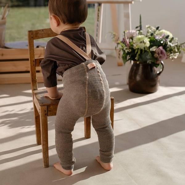 Bilde av Babytights Rib med Sele - Silly Silas - Charcoaly Brown