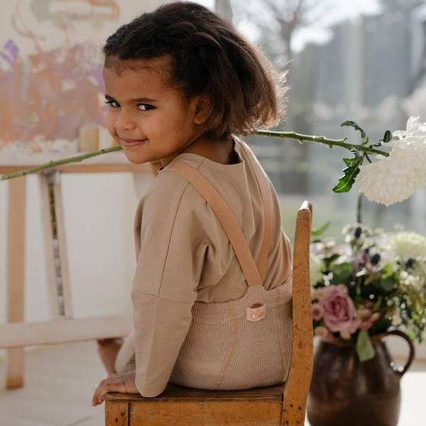 Bilde av Babytights Rib med Sele - Silly Silas - Silverly Brown