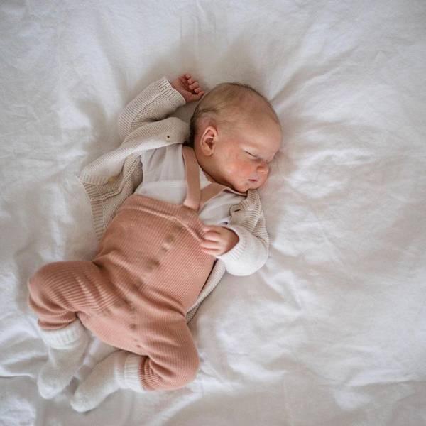 Bilde av Babytights Rib med Sele - Silly Silas - Light Brown Rose