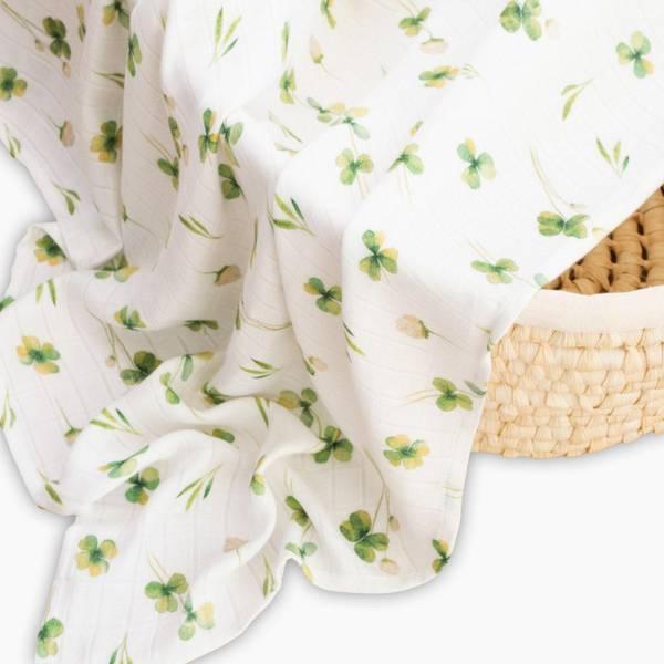 Bilde av Swaddle 2pk - 100% Bambus - 75x75cm - Layette - Clover