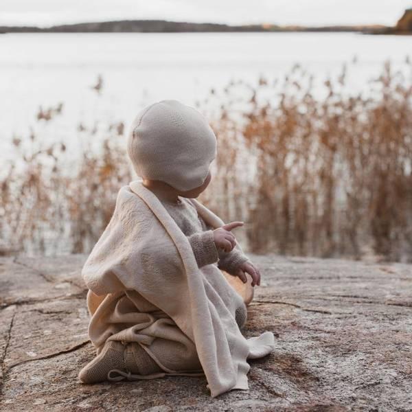 Bilde av Babyteppe - 70x95 - Merinoull - Hvid - Off-white/Oat -