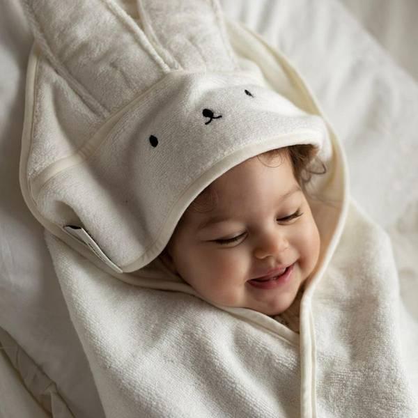 Bilde av Babyhåndkle - 100% Bambus - MyMemi - Kanin - Cream