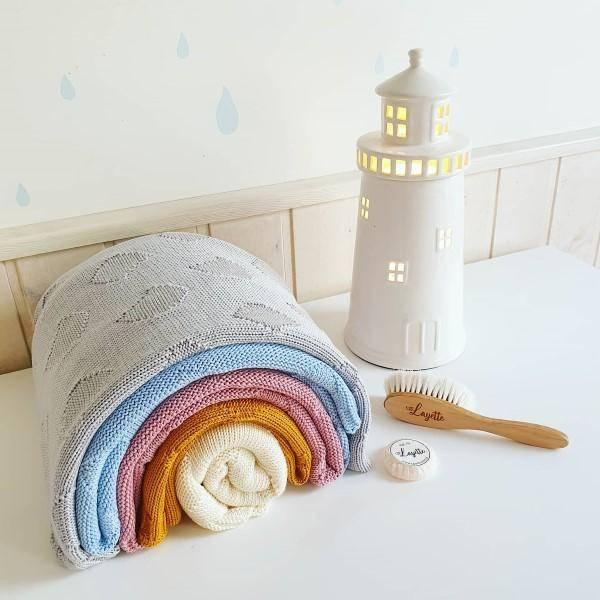 Bilde av Babyteppe - 80x100 - Bambus - Layette - Rosa