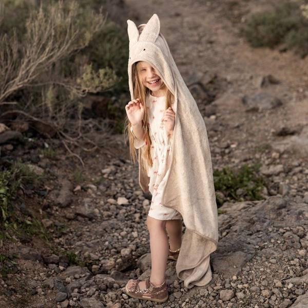 Bilde av Babyhåndkle - 100% Bambus - MyMemi - Kanin - Beige