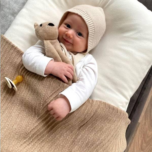 Bilde av Babyteppe - 70x95 - Merinoull - Hvid - Sand - Akira