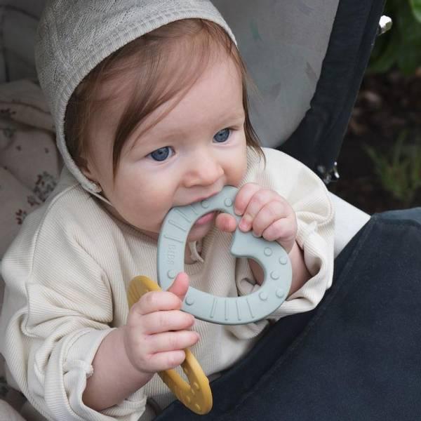 Bilde av Bibs Biteleke Baby Bitie - Hjerte - Sage