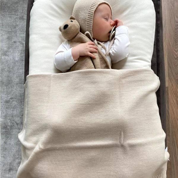 Bilde av Babyteppe - 70x95 - Merinoull - Hvid - Off-white - Didi