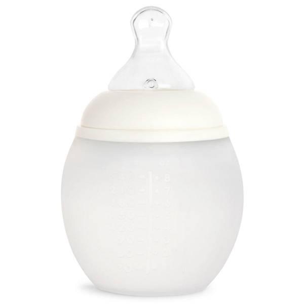 Bilde av Tåteflaske i Silikon - Elhee - 240ml - Milk