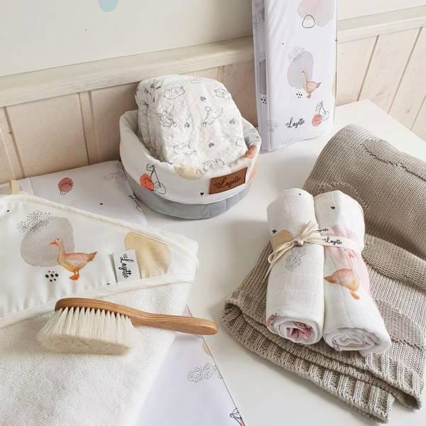 Bilde av Babyhåndkle - 100% Bambus - Layette - Gås
